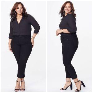NYDJ Plus Size Slim Skinny Black High Rise Jeans